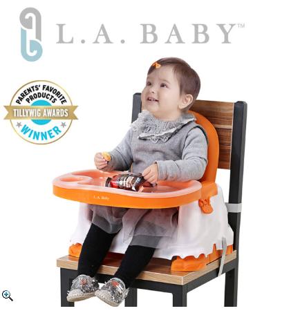 【L.A. Baby】攜帶式兒童摺疊餐椅