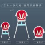 【美國 Creative Baby】三合一成長型寶寶大餐椅